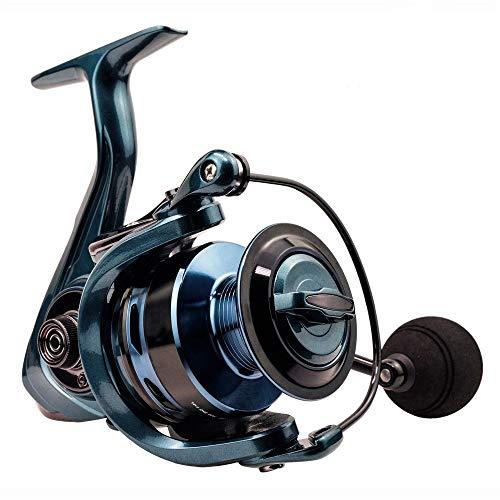 HZPXSB 14 + 1BB Doble Carrete de Pesca 5.5: 1 4.7: 1 Relación de Engranajes de Alta Velocidad de Giro del Carrete del Carrete del Bastidor de la Carpa for el Agua Salada