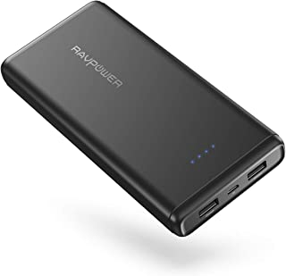 $36 » Portable Charger RAVPower 20000mAh USB External Battery Pack Dual iSmart 2.0 USB Ports, 3.4A Max Output, 2A Input Power Bank for iPhone, iPad, Galaxy Android Devices (2019)