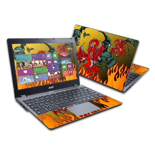 """MightySkins Skin Compatible with Acer C720 Chromebook 11.6"""" wrap Sticker Skins Dragon Breath"""