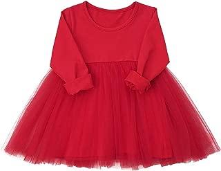 Baby Girls Black Dress Tutu Long Sleeves Ruffle Tulle 6-48m