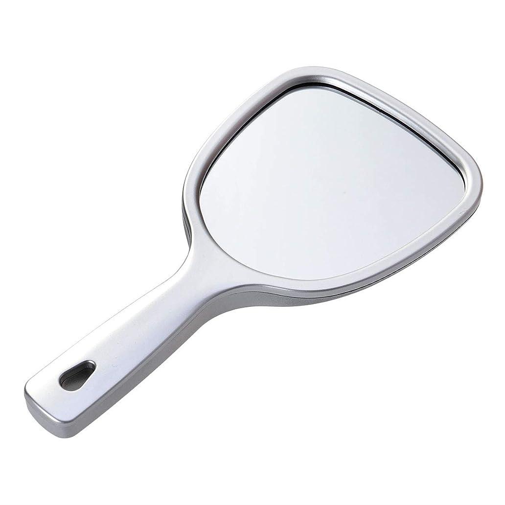 豪華なロンドン主導権Lurrose 手持ちミラー両面化粧鏡バック2倍3倍拡大ラウンドミラー(シルバー)