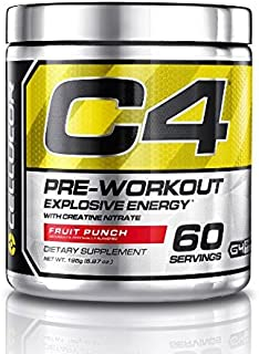Cellucor Cellucor C4 Pre Workout Powder with Creatine, G4, Fruit Punch 60 Servings (390g) 60 Servings
