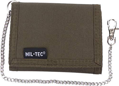 Mil-Tec Geldbörse Mit Sicherheitskette Gr. Small, olivgrün