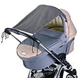 DIAGO Deluxe Sonnensegel Kinderwagen, grau