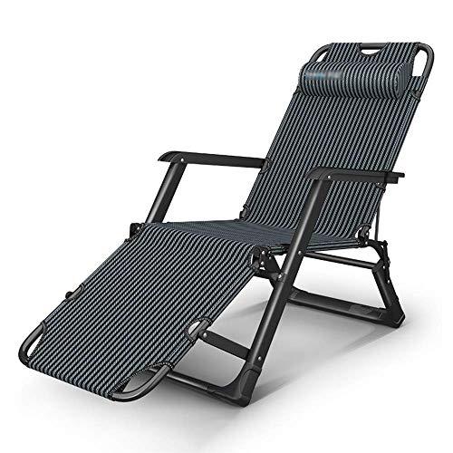 WSDSX Silla reclinable Plegable, Silla de salón Plegable Ajustable de Metal para Silla de Playa Multiusos para Acampar y jardín reclinable con reposacabezas Desmontable Di