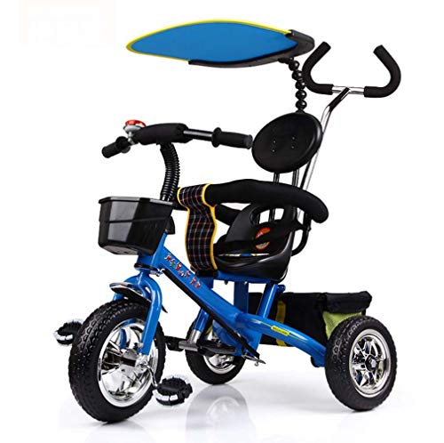 GJX Kinderdriewieler, 1-6 jaar oude fietswandelwagen, driewieler kinderwagen, kinderwagen