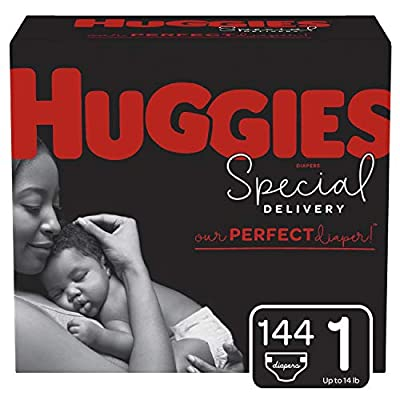 Huggies Special Delivery Hypoallergenic Baby Diapers, Size 1, 144 Ct, One Month Supply