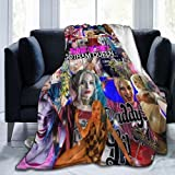 Harley Quinn Blanket Ultra Soft 3D The Blanket Quilt Microfiber Plush Throw Blankets for Bed Printed Quilt Blankets for Kids and Adults Fleece Blanket Bedding 50'X40'