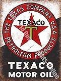 Texaco Aceite De Motor Texas Gasolina Garaje Vintage Anuncio Metal/Cartel De Acero Para Pared - 20 x 30 cm