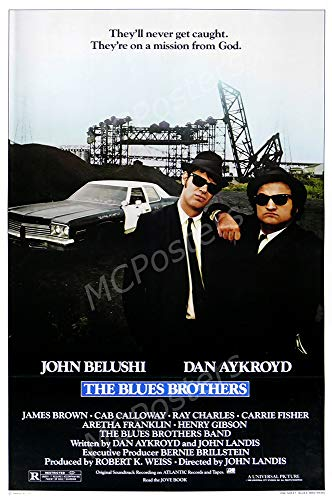 MCPosters - The Blue Brothers Glossy Finish Movie Poster - MCP876 (24' x 36' (61cm x 91.5cm))