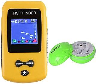 魚群探知機、すべての釣りの種類のためのソナーセンサーと4 * 4センチメートルLCDディスプレイ付き、水中スマート釣りトラッカー。