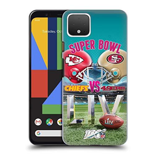 Official NFL Kansas City Chiefs vs San Francisco 49ers 2020 Super Bowl LIV Versus Hard Back Case Compatible for Google Pixel 4