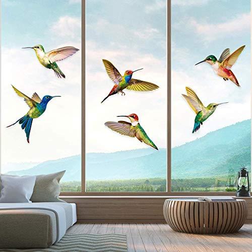Fensterbild Frühling Ostern Bunt Window-Sticker Fensterdeko, Ornithologie, Fenstersticker, Selbstklebend zum Schutz gegen Vogelkollisionen (6)