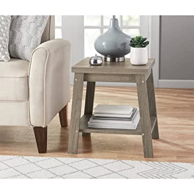 Mainstays Logan Side Telephone Table, Rustic Oak set of 2