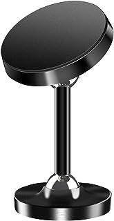 車載ホルダー 360°ステレオ二軸回転 マグネット 強力 スマホホルダー などインチ全機種に対応iPhone Samsung Galaxy Sony LG Huawei 長いです黒