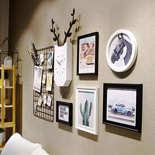 Jjek K- foto Frame foto muur foto muur Collage Ins Grid foto muur Set woonkamer fotolijst gepersonaliseerde muur klok creatieve fotolijst combinatie