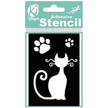 A1 Taille Pochoir - Xlarge animaux groupe chats animal brosse air mylar peinture murale pochoir art enfants