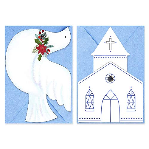 Hallmark 40-Count Church & Dove Assorted Religious Christmas Boxed Cards