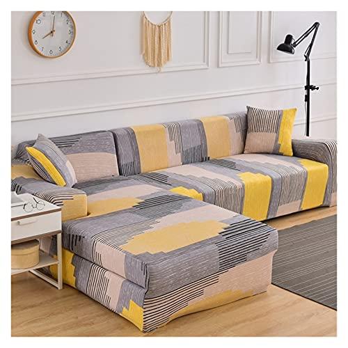 Funda Sofa Chaise Long 2 4 1 3 Plazas Elastica, Funda de Sofa Chaise Longue Derecho/Izquierdo (un sofá esquinero en L Requiere 2) (Color : L, Size : 4 plazas (235-300cm))