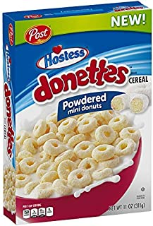 Post Hostess Donettes Powdered Mini Donuts Cereal 11 ounces
