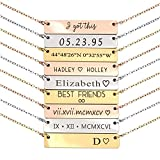 Personalized Necklace for Women Graduation Gift Mothers Day Gift for Her Silver Name Plate Bar Gold Necklace Custom Silver Necklace Bridesmaid Gift Mom - 4N