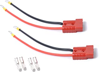 Garneck 1 par de bateria conector rápido de bateria 50 A, kit de plugue de chicote de fios de desconexão rápida, bateria d...