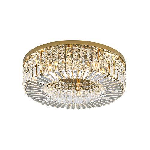 Cristal Plafón,Moderno 6-luces Metal Plafón Con Clear Cristal K9 Pantalla De Lámpara...