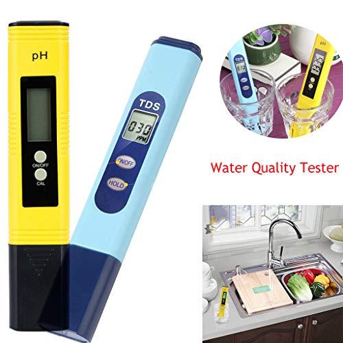 Moent Outils et amélioration de la Maison Testeur de qualité de l'eau PH 2 en 1 0-9990 PPM Plage de Mesure 1 PPM Résolution Testeur de qualité de l'eau