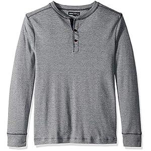 Men's Long-Sleeve Twisted Rib Henley Shirt