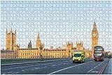 1000 Piezas-Londres Reino Unido 23 de abril de 2014 una furgoneta de ambulancia de emergencia acelera a lo largo de un rompecabezas de madera Rompecabezas educativos para niños de bricolaje Regalo de