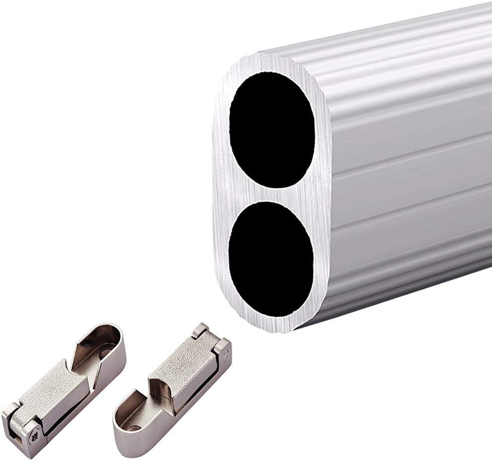Directly managed store Floating Shelves Silver Heavy-Duty Alloy Closet Hardwar New popularity Aluminum