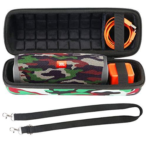 co2CREA Hart Tasche mit Schultergurt Für JBL Flip 5 Bluetooth Box portabler Lautsprecher Hülle Etui Tragetasche (Nur Hülle)