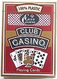 Hoyle Brand Club Casino RED Playing Cards Premium Poker Room Casino Finish Nib