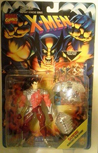SUNFIRE * Removable Solar Armor * 1995 Marvel Comics X-Men Mutant Genesis Series Action Figure & Marvel Universe Trading Card