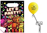 Five Nights At Freddys 16 Treat Bags With The Party Is Here Latex Balloon
