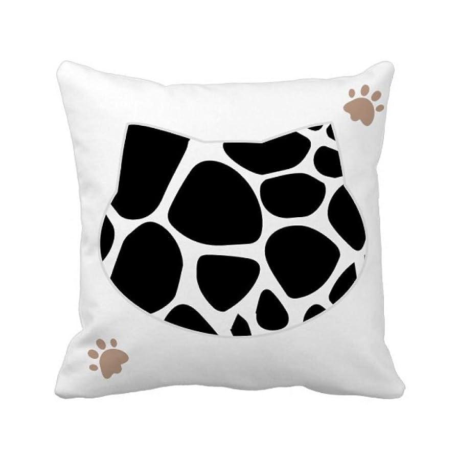 音打倒キャンセルキリンは、動物のイラスト芸術の穀物パターン 枕カバーを放り投げる猫広場 50cm x 50cm