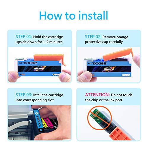 ONEINK Compatible Ink Cartridge Replacement for Canon 280 281 XXL PGI-280XXL CLI-281XXL PGI280 CLI281 for Printer PIXMA TS6120 TS6220 TS702 TR7520 TS8120 TS8220, 5 Packs(1PGBK, 1B, 1C, 1M, 1Y)… Photo #2