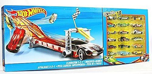 Hot Wheels Bahn mit 18 Autos, Hot Wheels Highspeed-Rennen, Hot Wheels Rennbahn