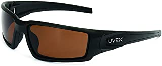 Uvex by Honeywell Hypershock Safety Glasses, Black Fame with Espresso Polarized Lens..