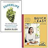 SuperLife By Darin Olien & Deliciously Ella Quick & Easy Plant-based Deliciousness By Ella Mills (Woodward) 2 Books Collection Set