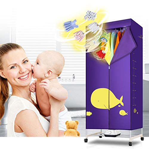 HKDJ-wasmachine, draagbaar, sneldrogend, 15 kg, capaciteit voor hete lucht, geschikt voor alle soorten textiel.