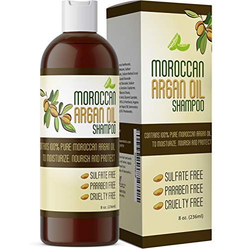 Moroccan Argan Oil Shampoo for Men and Women – Sulfate Free with Argan and Jojoba – Color Safe Nourishing Daily Shampoo - Paraben Free and Cruelty Free 8 Oz - USA Made By Honeydew Products