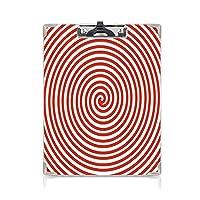 クリップボード 尖塔の装飾 プレゼントA4 バインダー 先細りのらせん状濃縮物が点心求心性平面曲線イメージに赤 用箋挟 クロス貼 A4 短辺とじ白