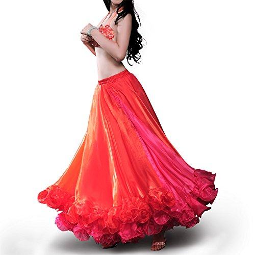 ROYAL SMEELA Buikdans Rok Voor Dames Dans Jurk Flamenco Carnaval Professioneel Dans Maxirok Oogverblindend Twee Toon 25 Werf Grote Swing Rokken Buikdans Outfit