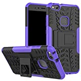XINYUNEW Funda Huawei P10 Lite, 360 Grados Protective+Pantalla de Vidrio Templado Caso Carcasa Case Cover Skin móviles telefonía Carcasas Fundas para Huawei P10 Lite-Púrpura