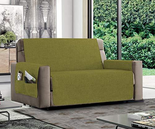 MB HOME BASIC Sofabezug, rutschfest, Entspannung, Grün, 2-Sitzer