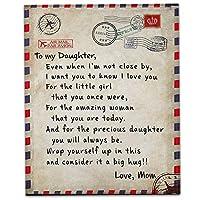 私の娘エクスプレス愛のブランケットへの手紙、ファジーソフトマイクロファイバーフランネル毛布ハグブランケット3D、150×200センチ印刷,A