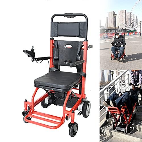 BrightFootBook Sedia Pieghevole per L'evacuazione Antincendio Dell'ambulanza, Sedia a Rotelle Elettrica, Trasporto su E Giù per Le Scale