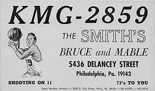 The Smith's Bruce and Mable, Shooting on 11 Philadelphia, Pennsylvania, PA, USA Old Vintage Basketball Postcard Post Card