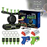 Shot Floating Target Game, Electronic Floating Target Practice Toys, Foam Dart Gun with 3 Foam Darts Blasters & 10 Soft Floating Balls, Space Guns Toys for Adults Kid (C (Upgraded Version))